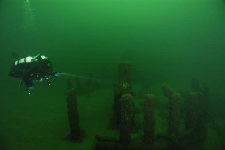 Lake Michigan Stonehenge-\