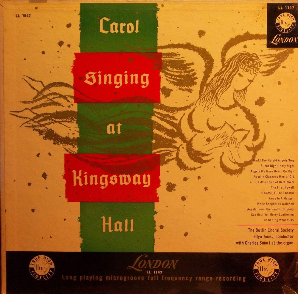"""BUTLIN CHORAL SOCIETY """"(CHRISTMAS) CAROL SINGING AT KINGSWAY HALL"""" VINYL RECORD"""