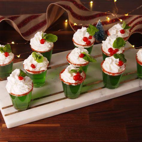 Christmas Jello Recipes.Mistletoe Shots