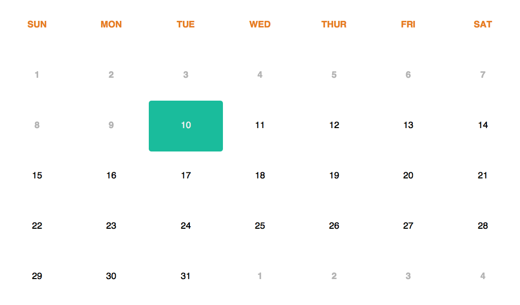 Full screen calendar using css, html and jquery      | Code