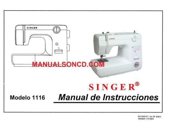 Manual De Instrucciones De La Maquina De Coser Singer 1116 Sewing Machine Instruction Manuals Sewing Machine Instructions Sewing Machine