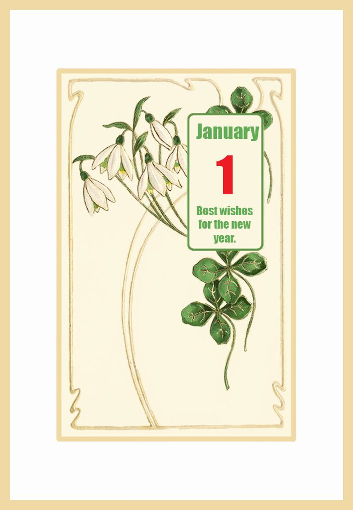 art nouveau greetings card new year card greeting cards google search spring