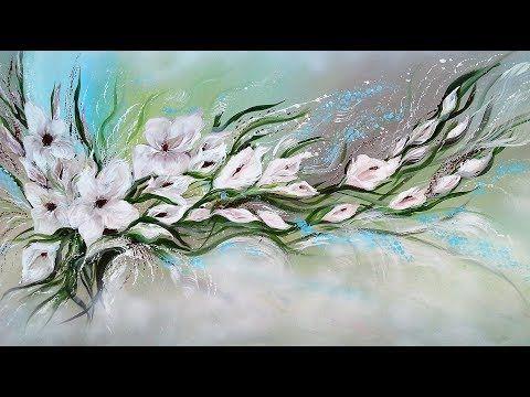 Acrylmalerei Blumen Acrylic Painting Flowers Fur Maria Part 2