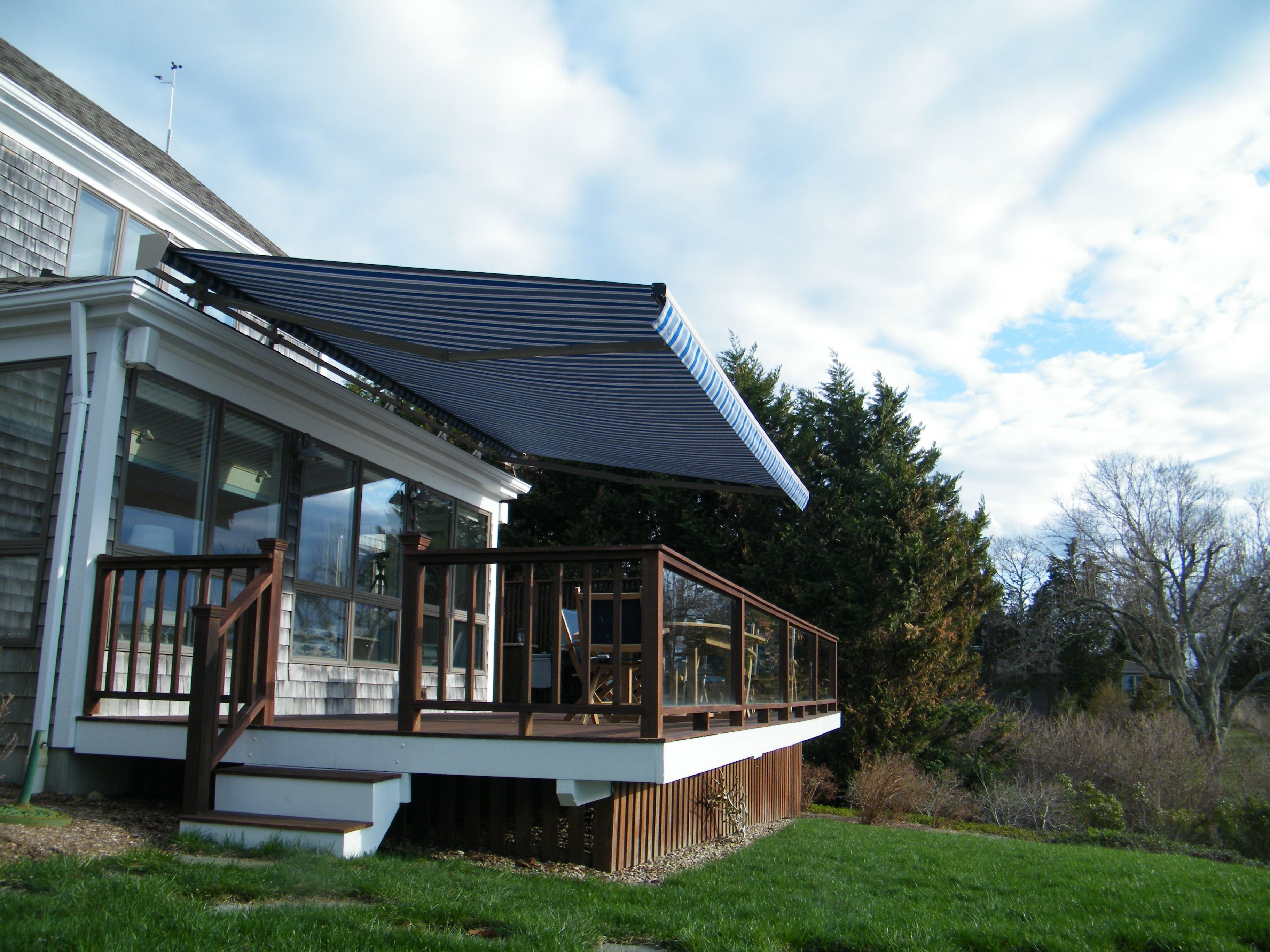 keep cool on cape cod with a retractable awning from ocean tailors