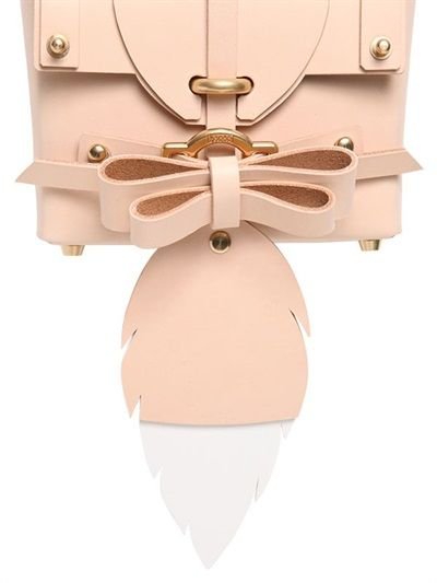 NIELS PEERAER - BABY TAIL BOW LEATHER TOP HANDLE BAG - LUISAVIAROMA - LUXURY SHOPPING WORLDWIDE SHIPPING - FLORENCE