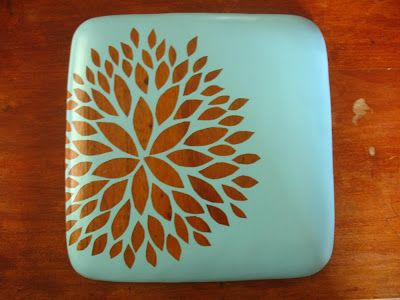 Upcycled wooden salad plate via Oh So Crafty
