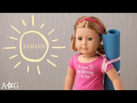 How To Make A Yoga Mat For Dolls Omag American Girl Youtube American Girl Doll House American Girl Doll Crafts American Girl Crafts
