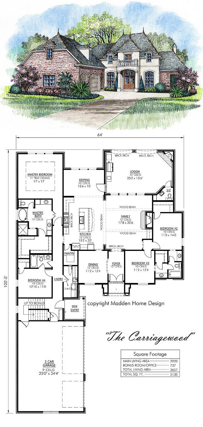 Madden Home Design The Carriagewood My Houseplan French Country House Plans French House Plans Acadian House Plans