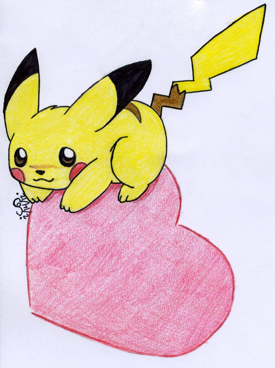 Cute Love Drawings Cute Pokemon Love Drawings Pikachu Love By