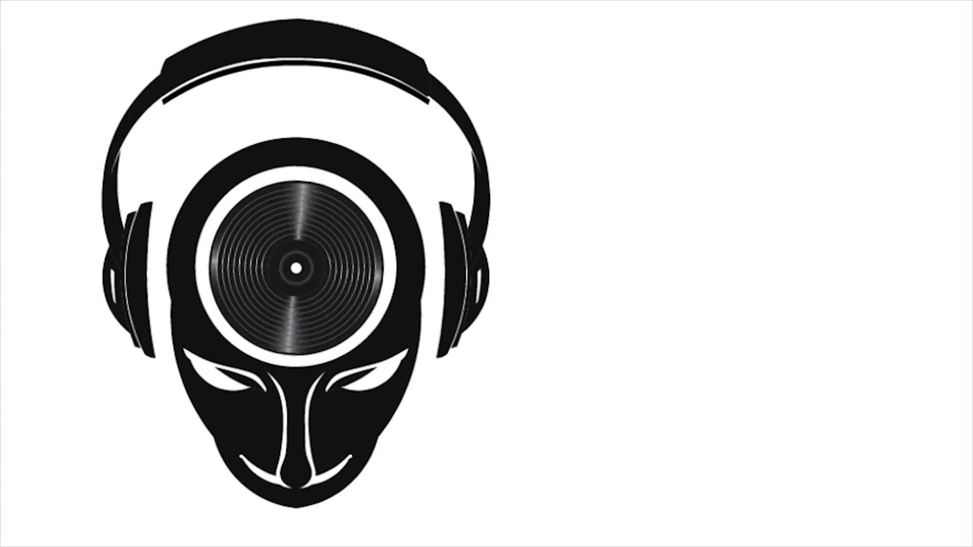 Dj Man With Head Vinyl Headphones Video Logo Animation Motion Background Videoblocks Dj Logo Music Logo Dj