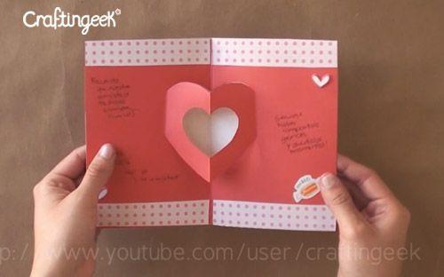 Como hacer tarjetas pop up san valentin jorge - Como hacer tarjetas para regalar ...