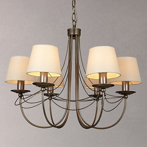 Buy john lewis mariana shaded multi arm ceiling light 6 arm buy john lewis mariana shaded multi arm ceiling light 6 arm pewter online aloadofball Image collections