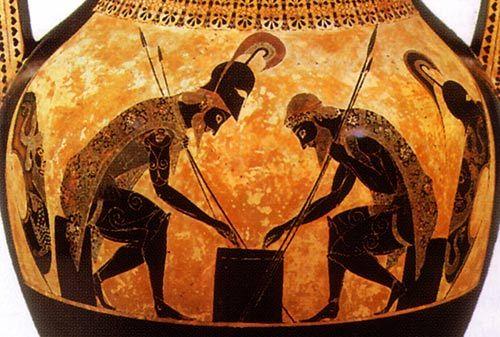 Black Figure Vase Painting Of Achilles Art Inspiration Pinterest