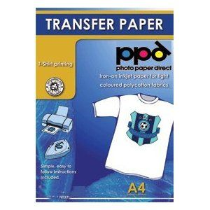 A4 Inkjet Iron On Transfers Paper T Shirt Transfers