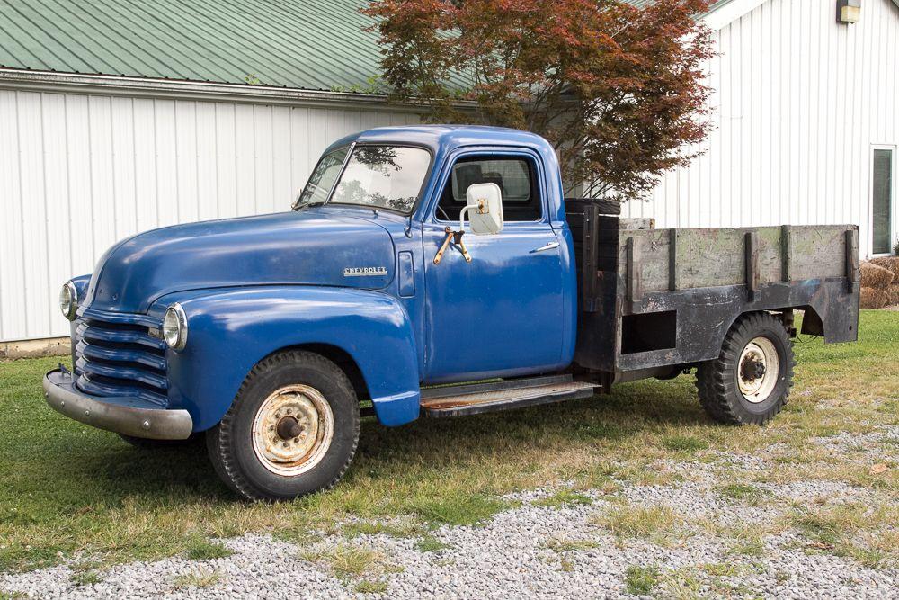 Motor'n 1950 Chevy 3/4 Ton Dump Truck Dump bed WORKS