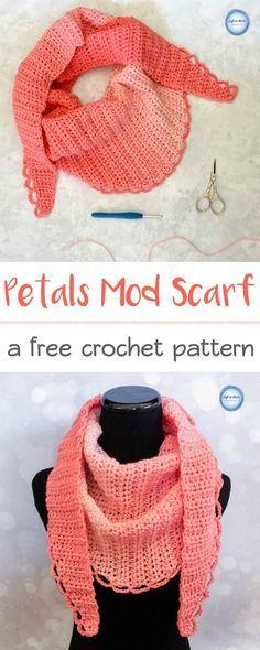 Petals Mod Scarf Modern Crochet Crochet And Modern Crochet Patterns