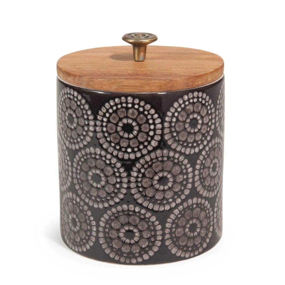 Keramikdose H 11 Cm Schwarz Tribu Tribu Maisons Du Monde Keksdose Keramik Keramik Kaffeedose