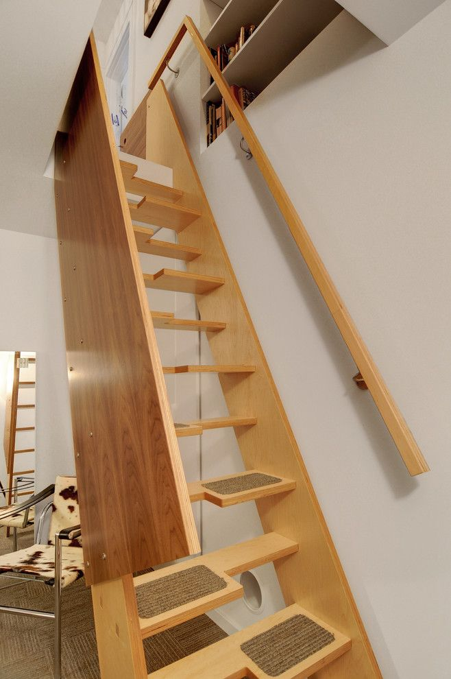 Best Alternating Tread Open Stairs With Small Carpets On The 400 x 300