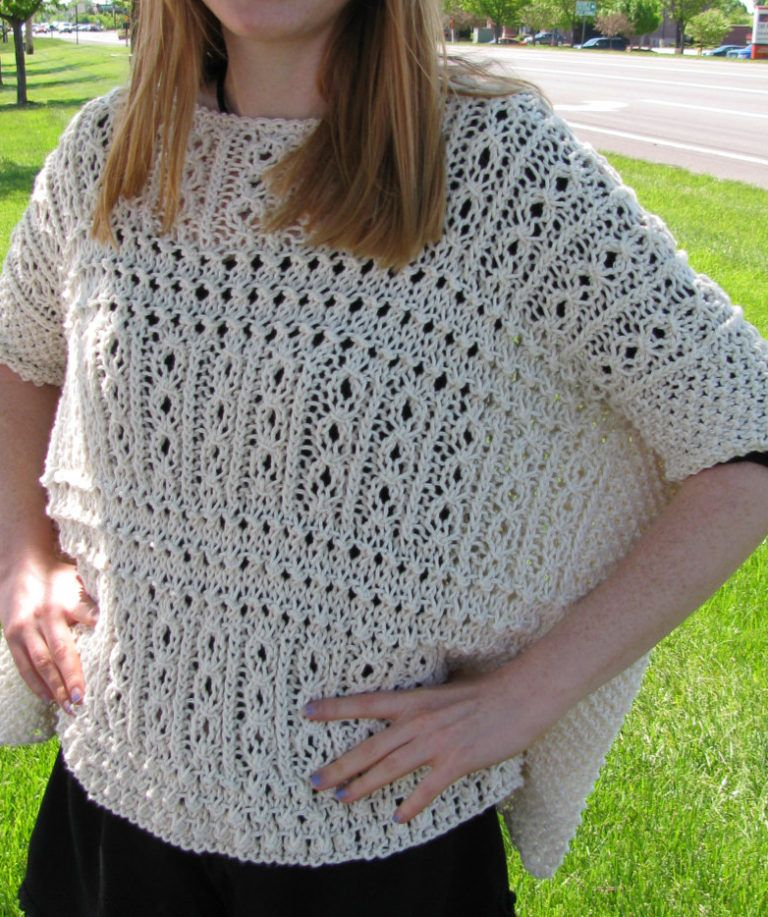 Knitting Pattern for Victorian Lace Ponchette | Free Knitting ...