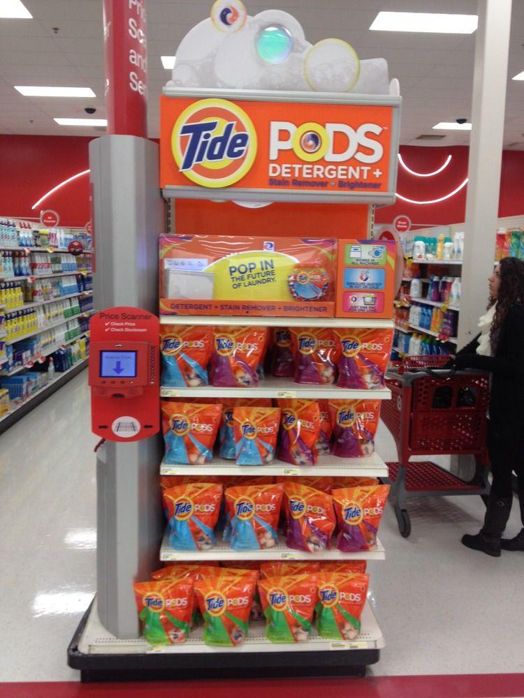 Target Tide Pods Endcap Retail Display Tide Pods Target