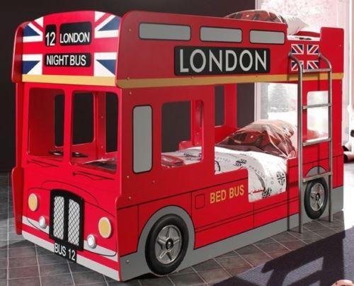 Etagenbett Autobus : Details zu etagenbett london stockbett kinderbett autobett