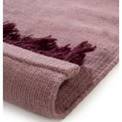 Photo of benuta Wollteppich Blok Rosa/Dunkelrot 200×300 cm – Naturfaserteppich aus Wolle benuta
