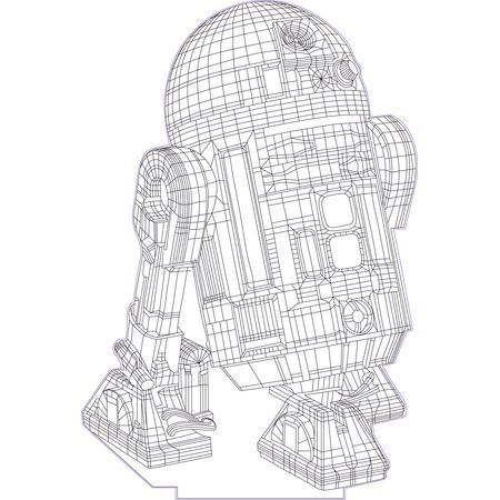Star Wars R2D2 3d Illusion Vector File For CNC   3bee Studio