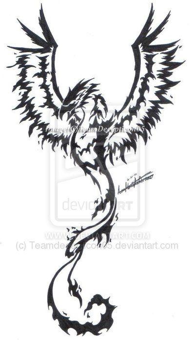 Phoenix Tribal Tattoo Tattoo Ideas Tattoos Phoenix Tattoo