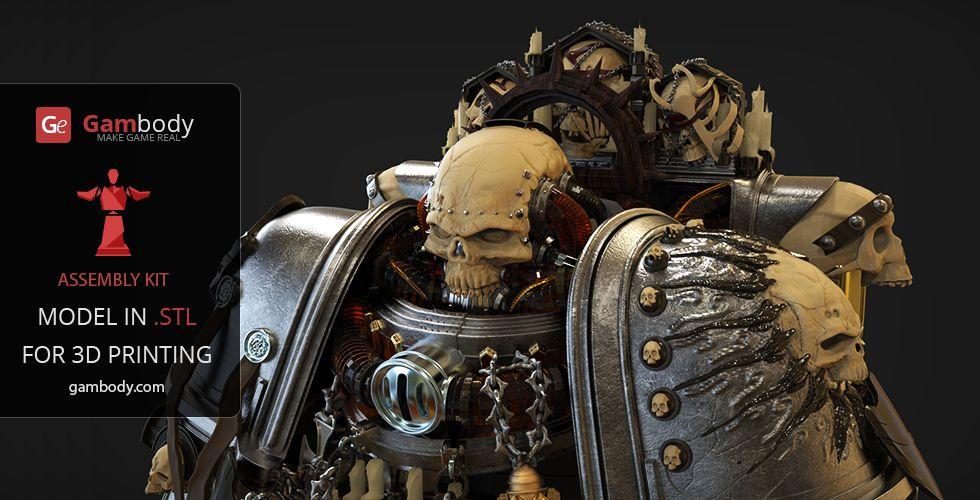 Chaplain 40k 3D Printing Figurine | Assembly | Warhammer (40K + AOS