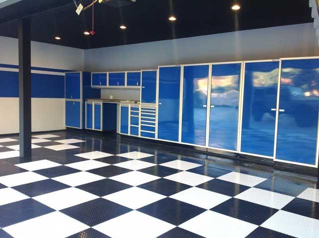 Metalen Opbergkasten Garage : Moduline blue aluminum garage storage cabinets in san diego so