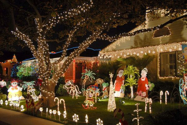 Usa Arizona Front Yard Christmas Decorations Stock Image