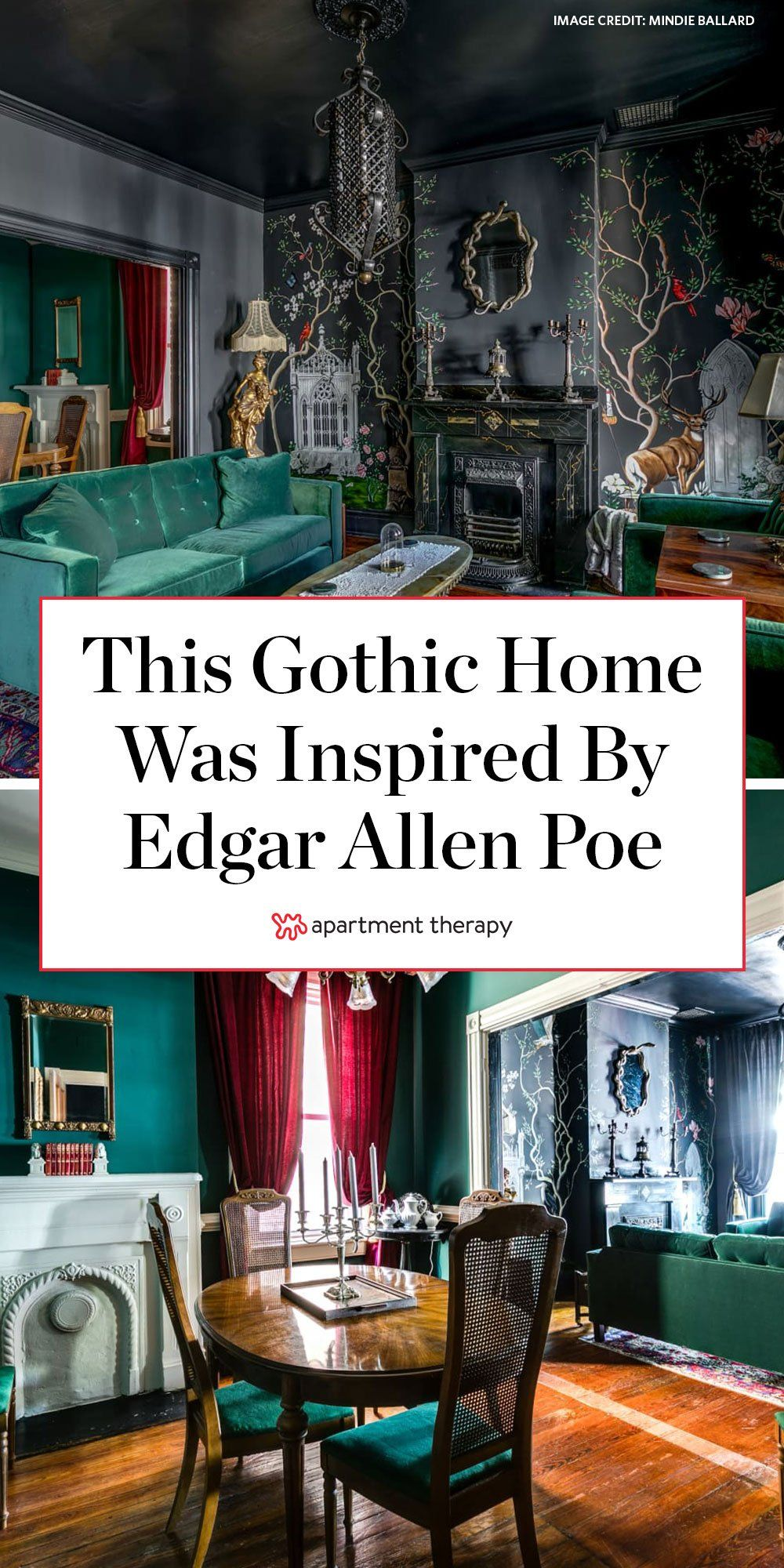 Photo of A Moody Virginia House Inspired by Edgar Allen Poe Is a Gothic Lover's Dream
