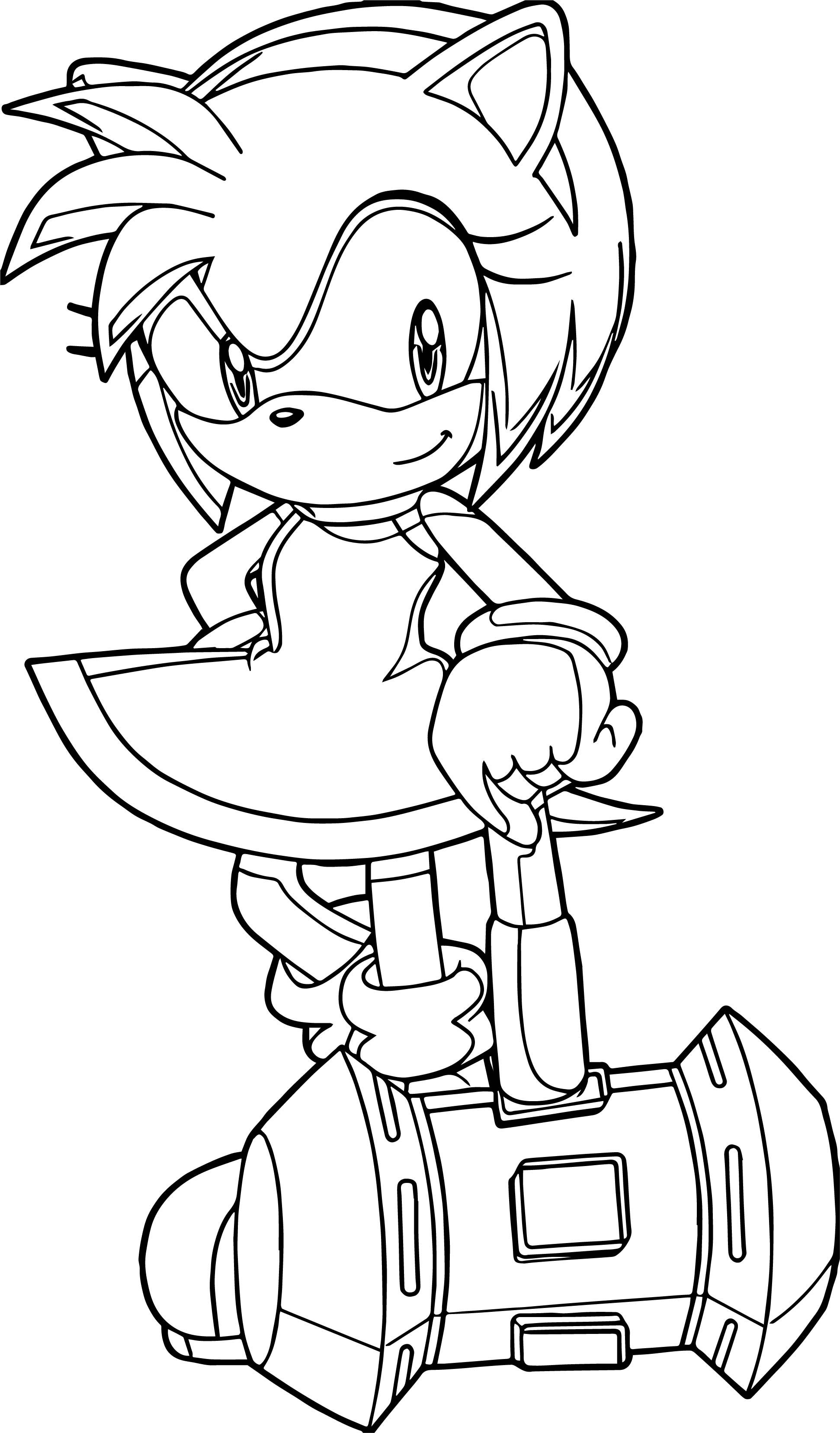 Awesome Super Amy Rose Coloring Page Rose Coloring Pages Star Wars Coloring Book Curious George Coloring Pages