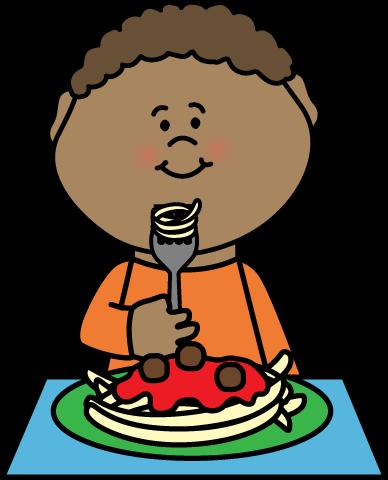 Eating Clipart 3 Ninos Espaguetis Rutinas