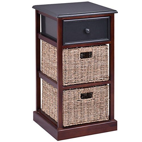light wood nightstand night stand tiers wood nightstand with drawer and baskets light weight design beuniquetoday