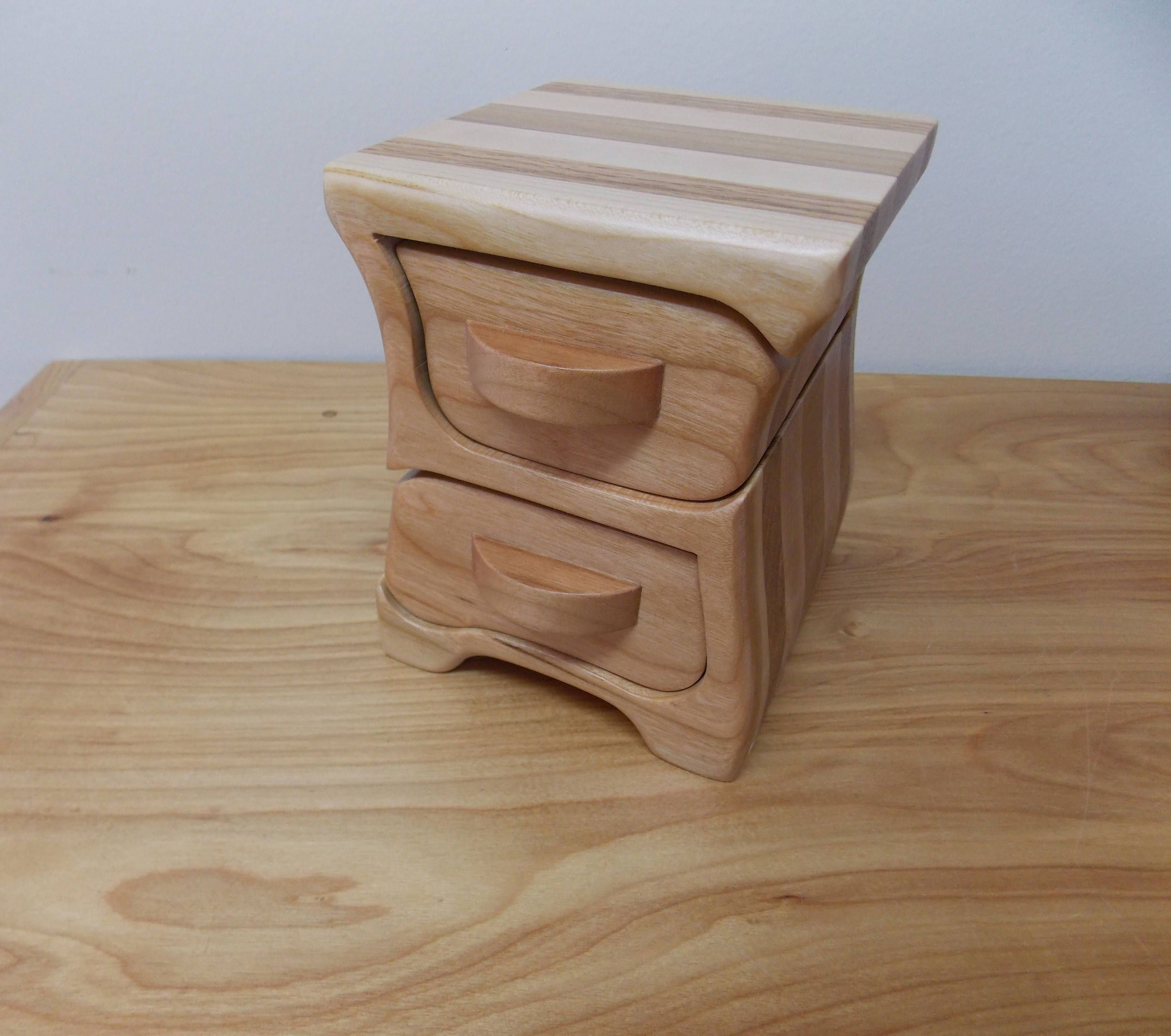 Small Jewelry Box Cherry Wood Jewelry Box Bandsaw Jewelry Box Key
