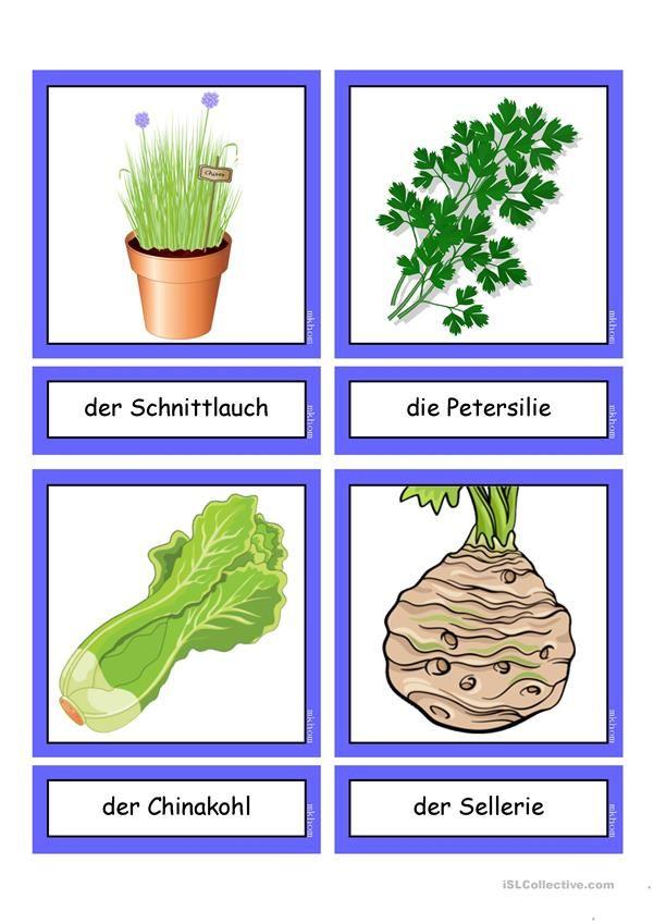 Flashcards_Gemüse 2_ μέσο | Language world | Pinterest | Homeschool ...