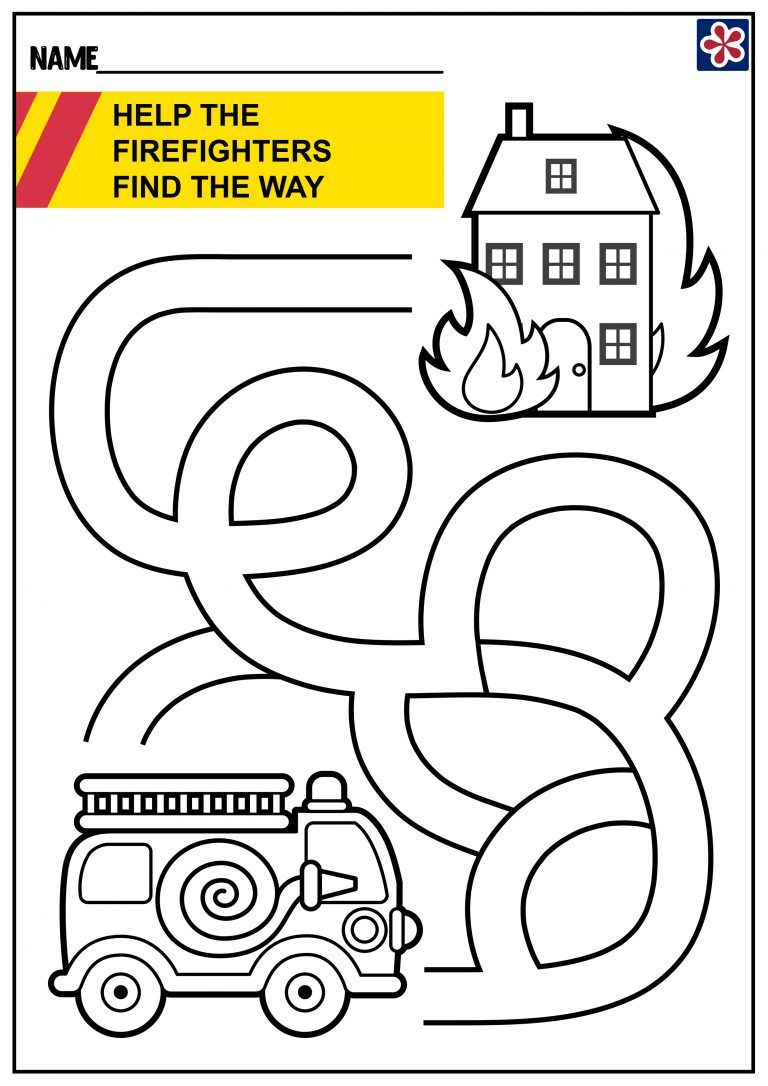 Free Firefighter Worksheets (With images)   Firefighter ...