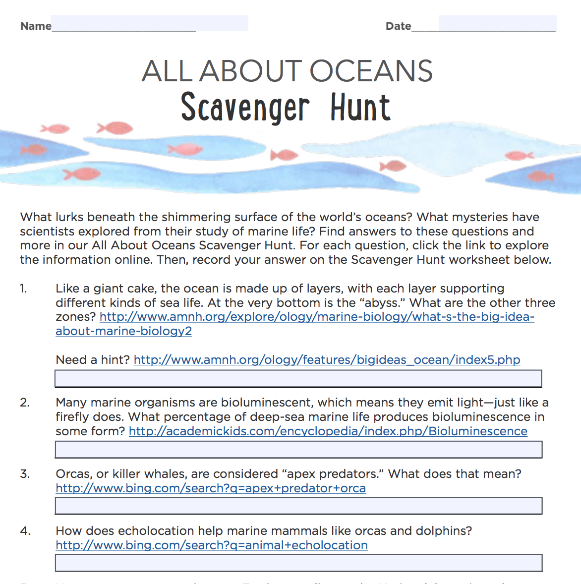 Scavenger Science Definition