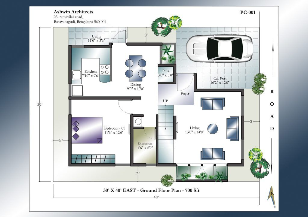 30 X 40 East Facing House Plan Ground Floor West Facing House Duplex House Plans 30x40 House Plans