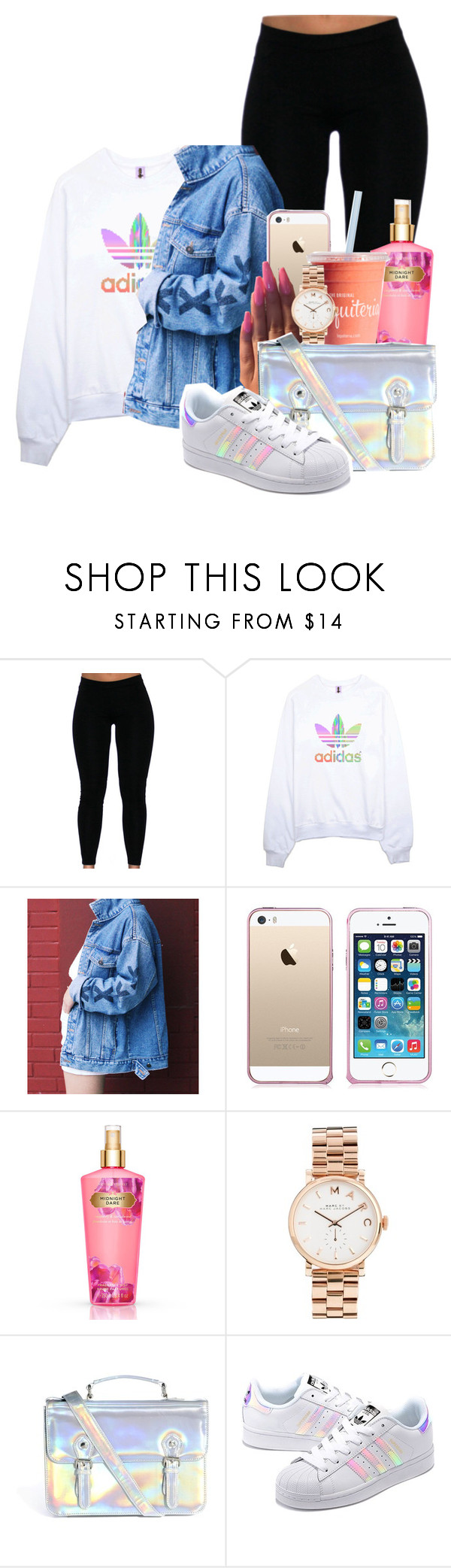 """""""Always Feel Alive"""" by melaninprincess-16 ❤ liked on Polyvore featuring adidas, Victoria's Secret, Marc by Marc Jacobs, ASOS and adidas Originals"""