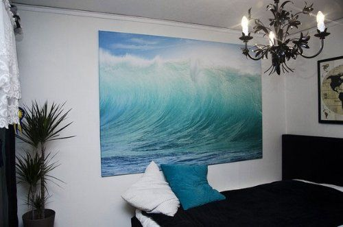 Black And White Ocean Tapestry