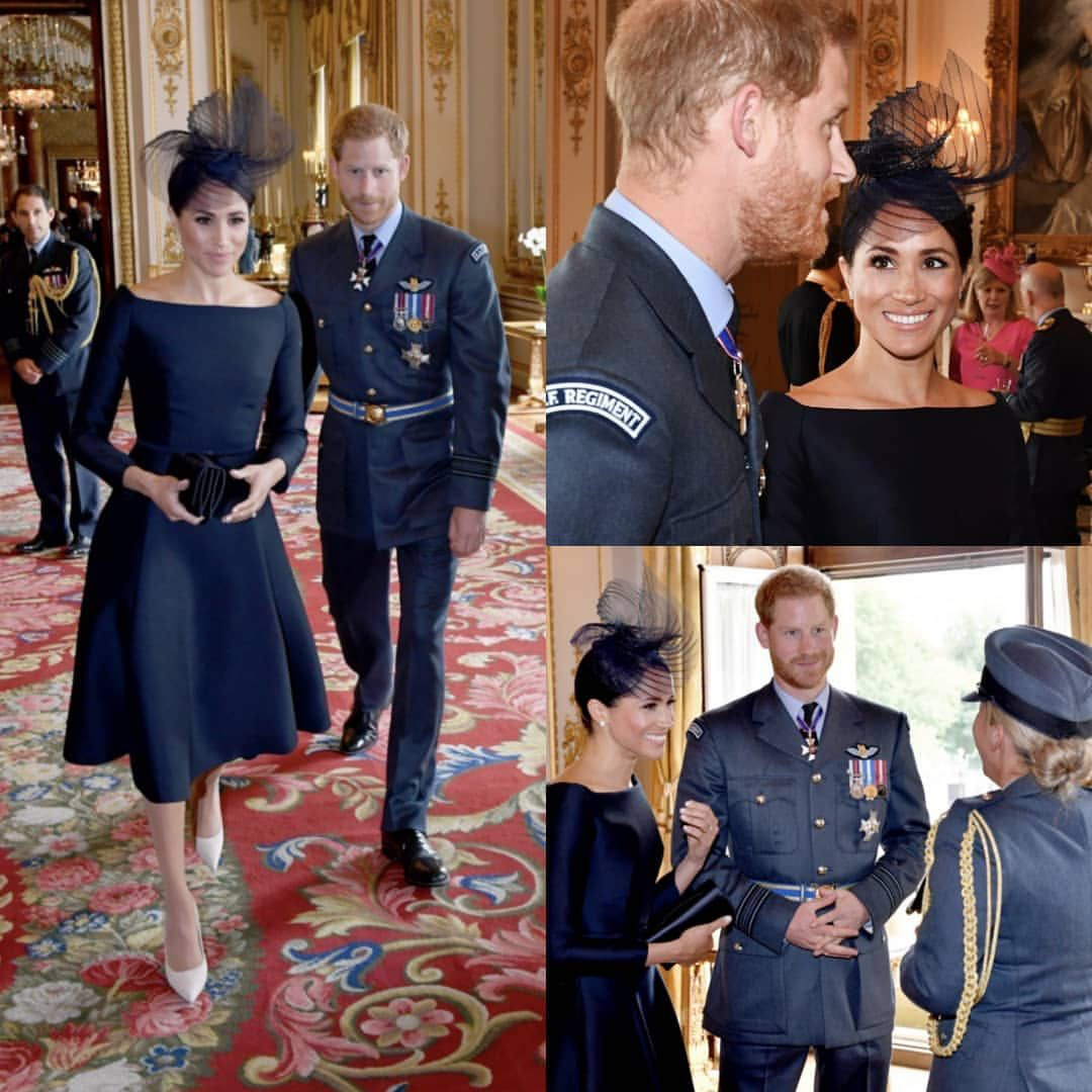 The Duke And Duchess Of Sussex Attend A Reception For 100 Members Of The Royal Airforce At Bucki Prince Harry And Megan Meghan Markle Style Markle Prince Harry