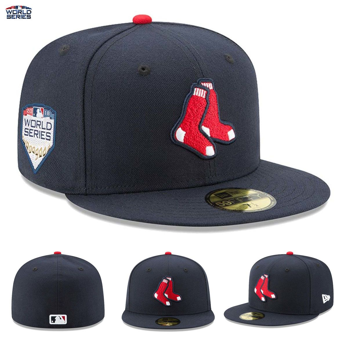 409488f4644 Boston Red Sox New Era 59FIFTY Fitted Hat Cap 2018 World Series Bound Side  Patch THEY MADE IT!!!! Boston Red Sox Are Officially World Series Material!!
