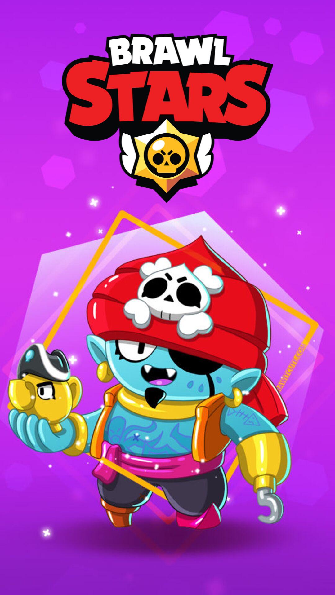 Pirate Gene Brawl Stars New Risunki Pandy Multiplikacionnye Illyutracii Geometricheskij Poster