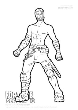 Psycho Bandit Coloring Page Fortnite Fanart Coloringpage Coloring Pages For Boys Coloring Books Coloring Pages