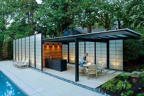 Pavilion-Medina Pool House Design by Lane Williams Architects ...