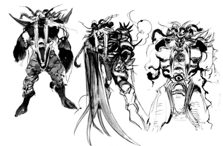 Yoshitaka Amano - Emperor Alternates - Final Fantasy II