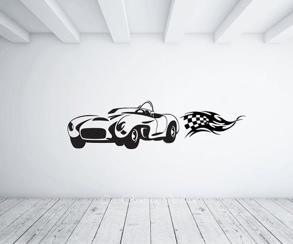 Car Decal GT Wall Sticker Spyder Ferrari Convertible