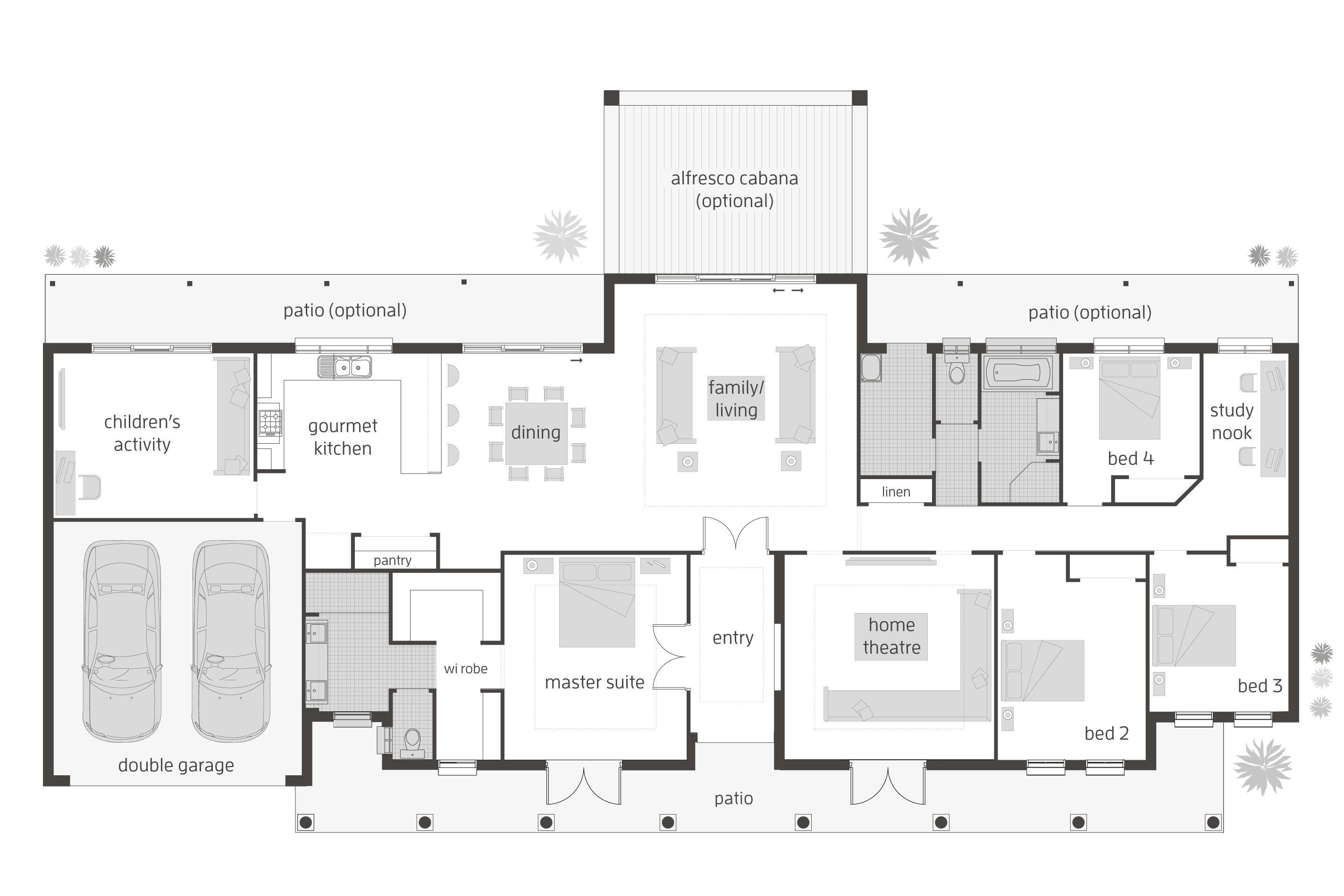 Floor Plan Friday: 4 bedroom + children\'s activity room | Pinterest ...